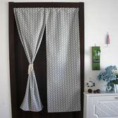 門簾 美式北歐簡約棉麻布藝廚房窗簾衛生間布簾風水簾