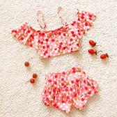 嬰幼溫泉寶寶大中小分體裙式1-3-9歲兒童泳衣