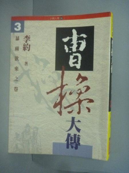 【書寶二手書T6/一般小說_HQK】曹操大傳-暴雨欲來之卷(參)_李約