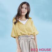Red House-蕾赫斯-假兩件條紋襯衫(黃色) 滿2000元現抵250元