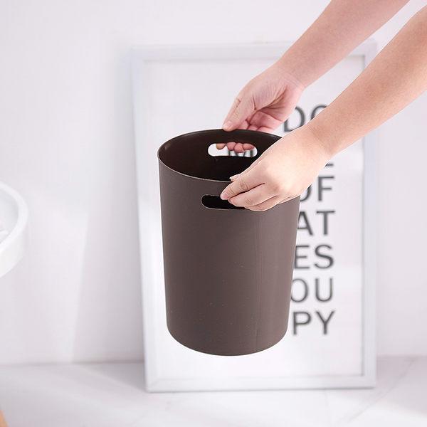 歐式北歐創意衛生間辦公室臥室客廳家用無蓋紙簍垃圾桶大號小號筒吾本良品