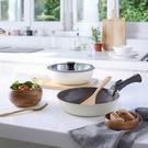 HOLA 可拆式陶瓷不沾導磁鍋4件組-白