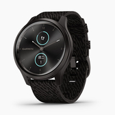 GARMIN 運動休閒 智慧錶 智能錶 vívomove Style 心率智慧手環 男錶 碳培極酷黑 010-02240-53