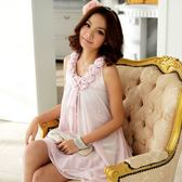 3301-JK浪漫花朵鑲珠波浪裙襬連身裙洋裝*謝師宴~美之札