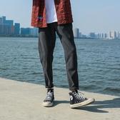 直筒褲LMTNZD秋季休閒褲男士直筒寬鬆修身港風國潮牌哈倫九分薄工裝褲子