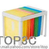 HIPCE創意CD盒時尚CD收納箱塑料DIY光盤架大容量120片碟片收納盒igo「Top3c」