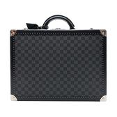 【台中米蘭站】全新展示品 Louis Vuitton 訂製款 硬面行李箱 COTTEVILLE 45(N21357-黑灰)