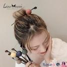 熱賣髮簪 隨心用~日系和風圓球髮簪簡約現代丸子頭盤髮器甜美少女森系頭飾 coco