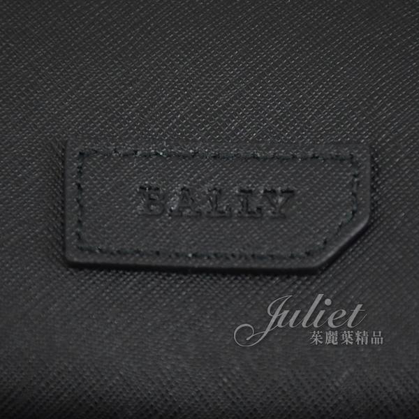 茱麗葉精品【全新現貨】BALLY 6238376 PARTON 壓印LOGO 防刮牛皮後背包.黑