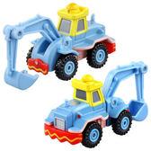 TOMICA 10週年抽抽樂系列-藍色挖土機DS13190 迪士尼小汽車