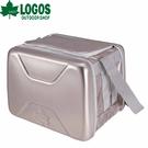 【LOGOS 日本 斷熱海霸超凍箱XL 銀】81670090/保冰/行動冰箱/保冰袋/保冰桶/烤肉