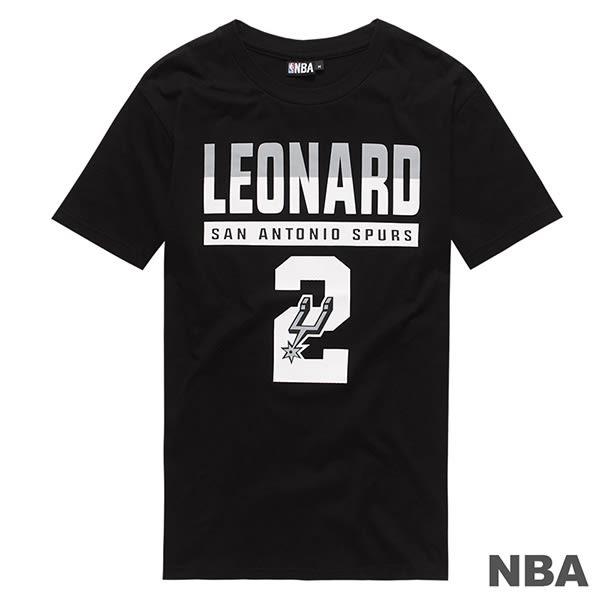 創信 NBA 短袖 短T 馬刺 黑 Leonard #2 號碼T 8730257-020【Speedkobe】