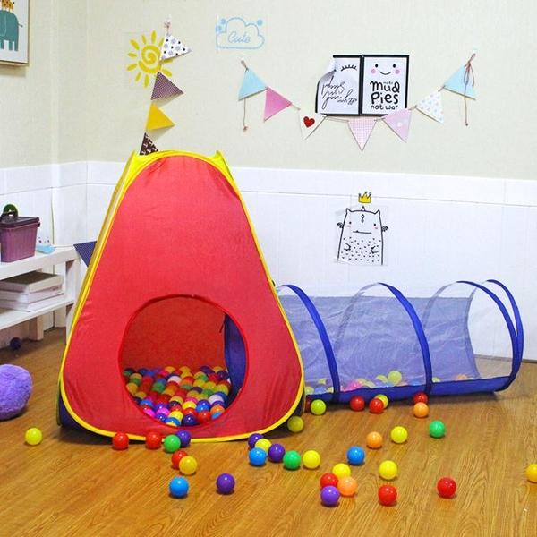 兒童帳篷室內外玩具游戲屋公主寶寶過家家女孩摺疊小房子海洋球池 「免運」
