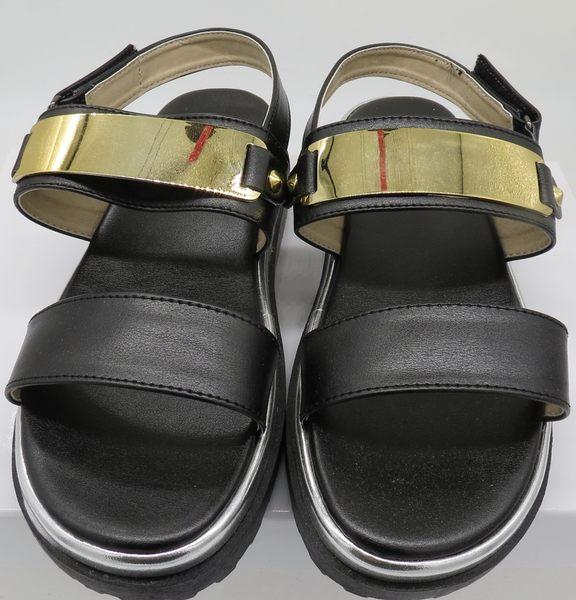 【Fabulous!!】612韓風金屬片涼鞋 黑