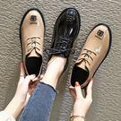2019新款INS小皮鞋女春季英倫百搭森女系韓版學生黑色布洛克單鞋  (PINKQ)
