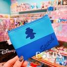 正版 迪士尼 星際寶貝 史迪奇 雙面斜紋皮革零錢包 鑰匙圈零錢包 收納包 COCOS WZ075