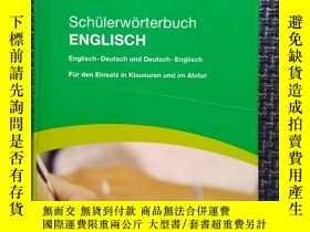 二手書博民逛書店德國原版進口PONS英語詞典,英德—德英罕見PONS Schül