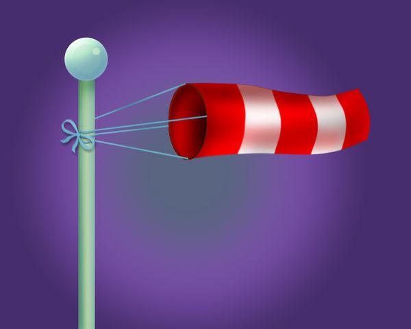 風向袋 測量風向 氣象 建物 工程 教學 直徑約50cmX長190cm