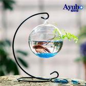 魚缸 吊掛懸掛玻璃魚缸 創意斗魚缸迷你小型多肉植物透明水培玻璃花瓶