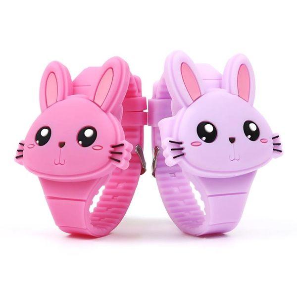 兒童手錶兒童手錶女兔子學生電子表女孩玩具表卡通手錶網紅玩具禮物卡通  童趣屋