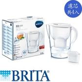 BRITA 馬利拉3.5L濾水壺白色PLUS(1壺4芯)【愛買】