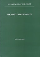 二手書博民逛書店 《Islamic Government: Governance of the Jurist》 R2Y ISBN:9643354997│Alhoda UK
