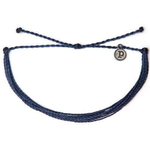Pura Vida 知名美國衝浪品牌 SOLID INDIGO 深藍色 基本款 手環