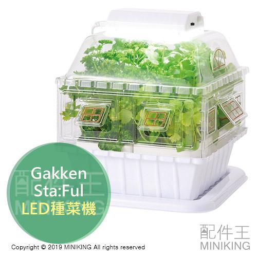 日本代購 空運 Gakken Sta:Ful LED 種菜機 水耕栽培 土耕栽培 種植機 蔬菜栽培 盆栽