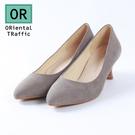 極簡純色舒適中跟鞋-質感灰(8603_G...