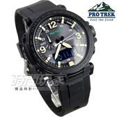 PRG-600Y-1 太陽能 登山錶 男錶 黑框X黑 PRG-600Y-1DR PRO TREK CASIO卡西歐 萬年曆 世界時間 橡膠錶帶