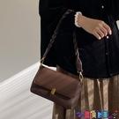 小方包 2021春夏韓版新款復古腋下包英倫風小方包側背斜背小包包寶貝計畫 上新