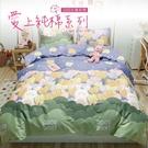 Artis台灣製-精梳純棉 單人床包 -花園兔二件組