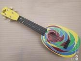 出口兒童純木4弦烏克麗麗送書背帶可彈奏初學用YJT  【快速出貨】