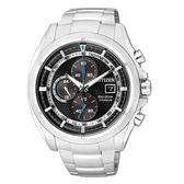CITIZEN GENTS系列 超級鈦金屬計時光動能腕錶/黑面/CA0551-50E