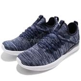 Puma 慢跑鞋 Ignite Flash EvoKnit 藍 白 低筒 避震回彈 男鞋【PUMP306】 19050809