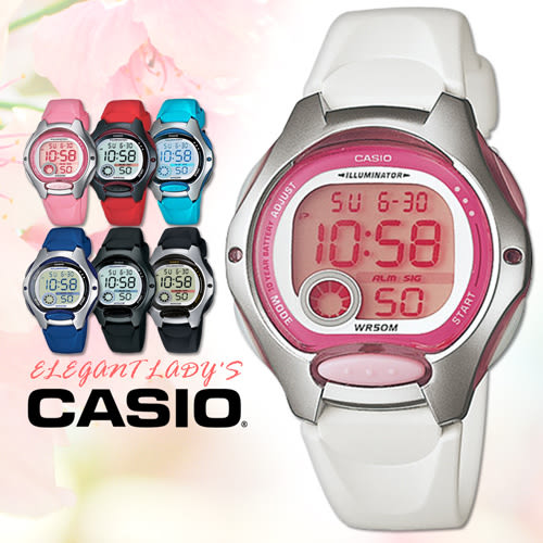 CASIO手錶專賣店 卡西歐 LW-200-7A 女錶 兒童錶 10年電池 球面玻璃 塑膠按鍵 膠質錶帶 數字電子錶