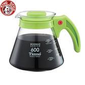 金時代書香咖啡 Tiamo 耐熱玻璃咖啡壺600cc 綠色 HG2295G