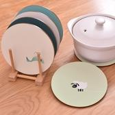 2個裝軟木鍋墊防燙碗墊餐墊歐式日式北歐木質隔熱墊卡通可愛桌墊【快速出貨】
