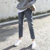 牛仔褲女 軟妹直筒褲子冬ulzzang高腰寬鬆ins超火的闊腿chic牛仔褲女九分褲 芭蕾朵朵