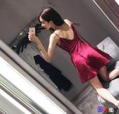 夏季時尚氣質顯瘦禮服性感夜店女裝潮露背吊帶抹胸連身裙