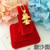 新款金店同款實心磨砂3D小天使項鏈女 鍍金仿黃金鎖骨鏈沙金項鏈