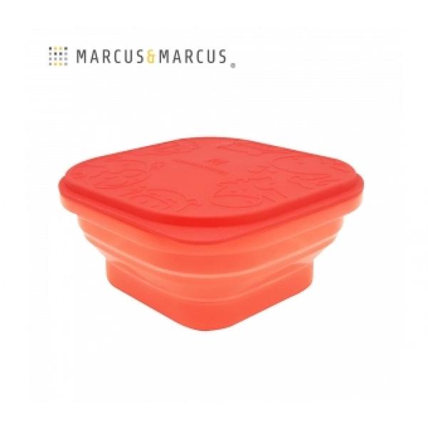 《 MARCUS&MARCUS 》果凍矽膠摺疊保存盒-紅 / JOYBUS玩具百貨