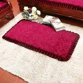 冬季加厚毛絨紅實木沙發墊帶靠背連身防滑 高密度海綿長椅坐墊子特惠免運