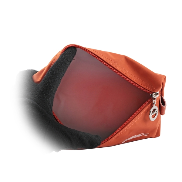 【LONGCHAMP】LE PLIAGE CLUB 系列萬用手拿包(橘色) 34060 619 P39