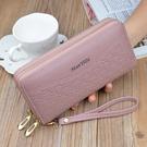 手拿包 女士錢包女長款多功能皮夾子新款時尚雙拉鏈卡包手拿包錢夾潮 美物居家