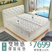 【IKHOUSE】夢迴雙睡感鴛鴦彈簧床墊-雙人床5尺-獨立筒+連結式-科技乳膠+記憶棉