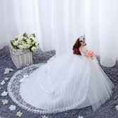 婚紗娃娃90公分超大拖尾女孩公主夢幻類單個洋娃娃HD【新店開張8折促銷】