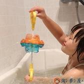 兒童寶寶浴室洗澡戲水玩具旋轉噴水八爪魚花灑【淘夢屋】