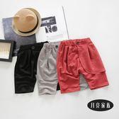 男嬰兒中褲夏天6個月夏季薄款五分褲
