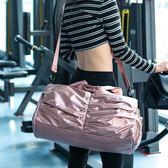 健身包女側背運動包干濕分離游泳包女訓練瑜伽包輕便手提 伊蒂斯女装